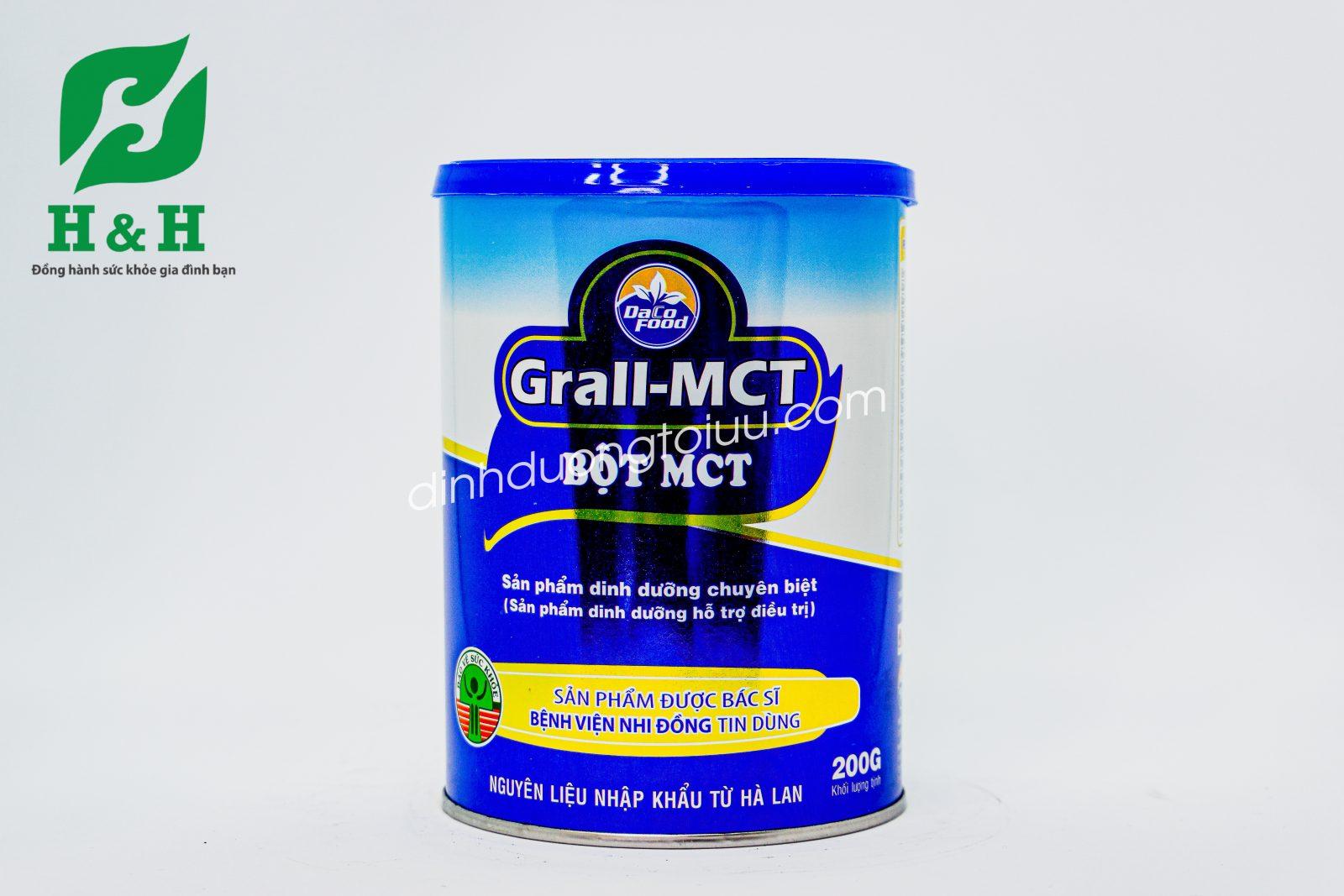Bột Grall MCT - Sản phẩm dinh dưỡng hỗ trợ điều trị trẻ chậm tăng cân, suy dinh dưỡng