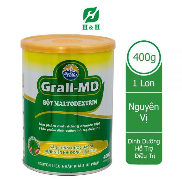 Bột MALTODEXTRIN GRALL MD – Dinh dưỡng chuyên biệt CHO TRẺ SUY DINH DƯỠNG, BỔ SUNG NĂNG LƯỢNG Ở NGƯỜI LỚN