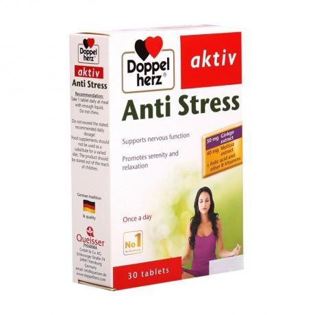 Doppelherz Aktiv ANTI STRESS (hộp 30 viên) - GIÚP BỔ NÃO, GIẢM CĂNG THẲNG