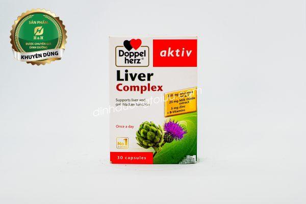 Doppelherz Aktiv Liver Complex - thực phẩm bảo vệ sức khỏe của Đức, giúp hỗ trợ chức năng gan cho cơ thể.