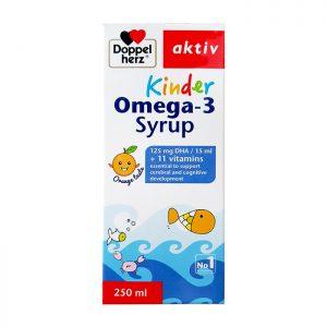 Doppelherz Aktiv Kinder Omega-3 Syrup – Giúp trẻ THÔNG MINH và phát triển toàn diện