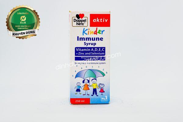 Doppelherz Aktiv Kinder Immune Syrup được nghiên cứu nhằm giúp phát triển hệ miễn dịch của trẻ