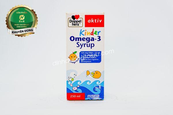 Doppelherz Aktiv Kinder Omega-3 Syrup - Giúp trẻ THÔNG MINH và phát triển toàn diện