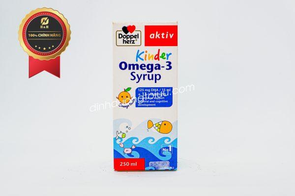 Doppelherz Aktiv Kinder Omega-3 Syrup hỗ trợ phát triển não bộ và thị lực của trẻ, cải thiện sự tập trung cho trẻ em.