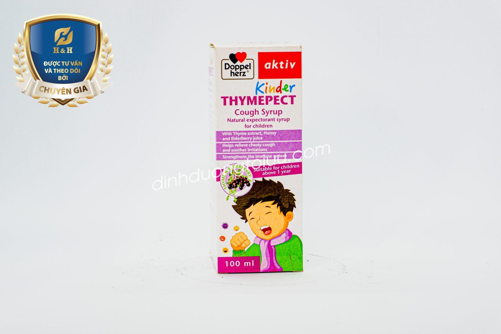 Doppelherz Aktiv KINDER THYMEPECT - Thuốc ho số 1 tại Đức