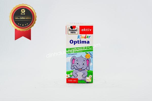 Doppelherz Aktiv Kinder Optima giúp bổ sung L-lysine, 12 loại Vitamin thiết yếu cùng 5 loại khoáng chất hỗ trợ nâng cao sức đề kháng, kích thích tiêu hóa, tăng cường miễn dịch, hỗ trợ quá trình phát triển của trẻ