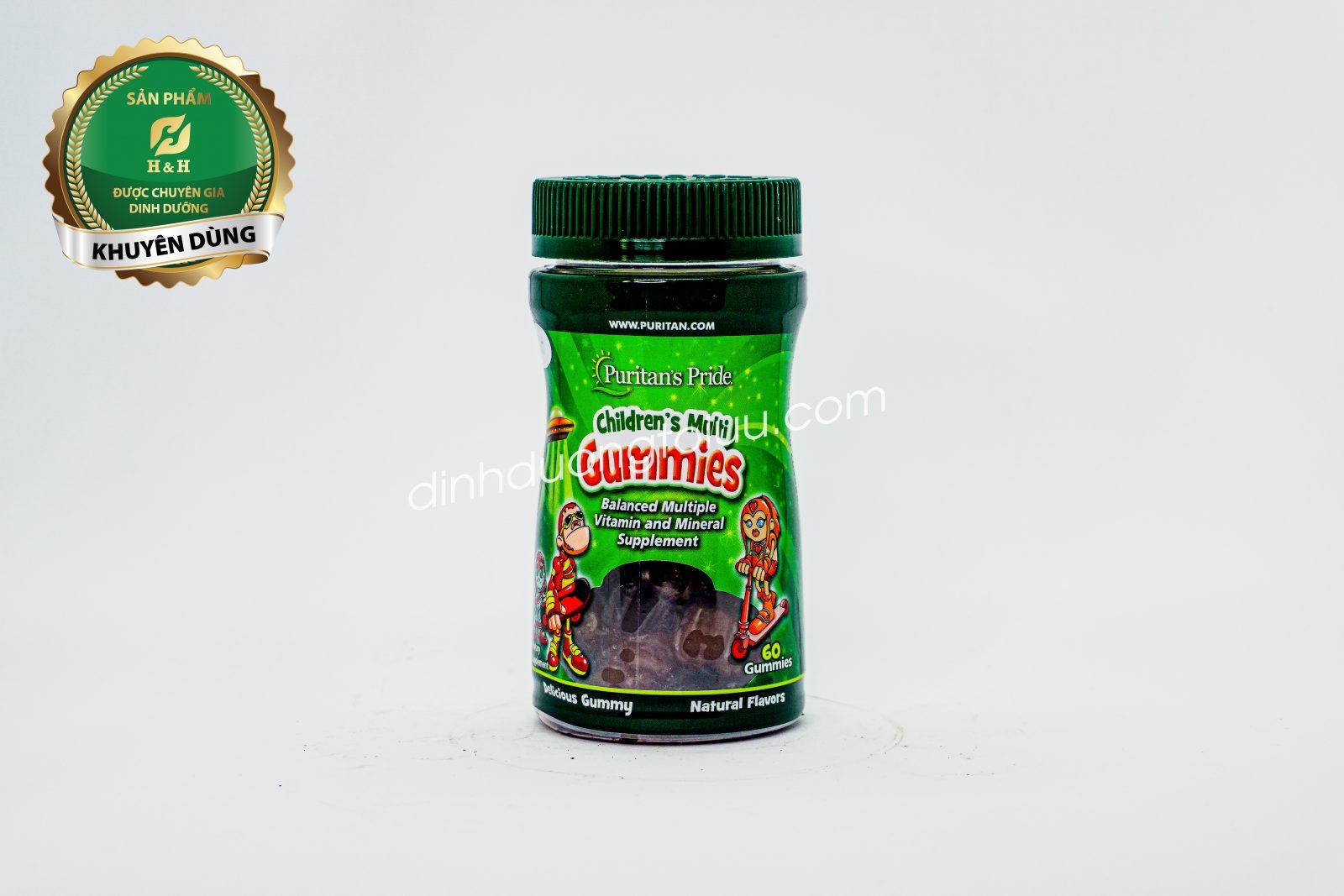 Viên nhai kẹo dẻo bổ sung Vitamin - Puritan's Pride Children's Multivitamins & Minerals Gummies