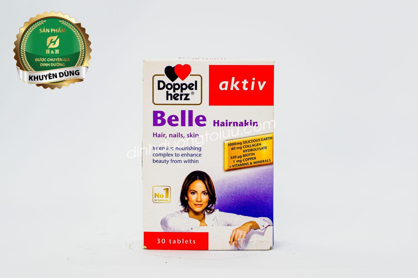 Doppelherz Aktiv Belle Hairnakin là sản phẩm phổ biến trên thị trường, được mọi người tin dùng