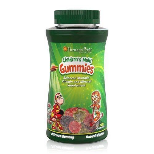 Puritan's Pride CHILDREN'S MULTIVITAMINS & MINERALS GUMMIES 60 viên - Viên nhai kẹo dẻo bổ sung Vitamin