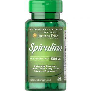 Puritan's Pride SPIRULINA 500mg – Thực phẩm bảo vệ sức khỏe giúp BỔ SUNG VITAMIN và KHOÁNG CHẤT THIẾT YẾU