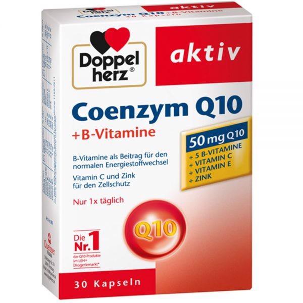 Doppelherz Aktiv COENZYME Q10 30mg 30 viên - Thực phẩm chức năng bảo vệ SỨC KHỎE CHO TIM MẠCH
