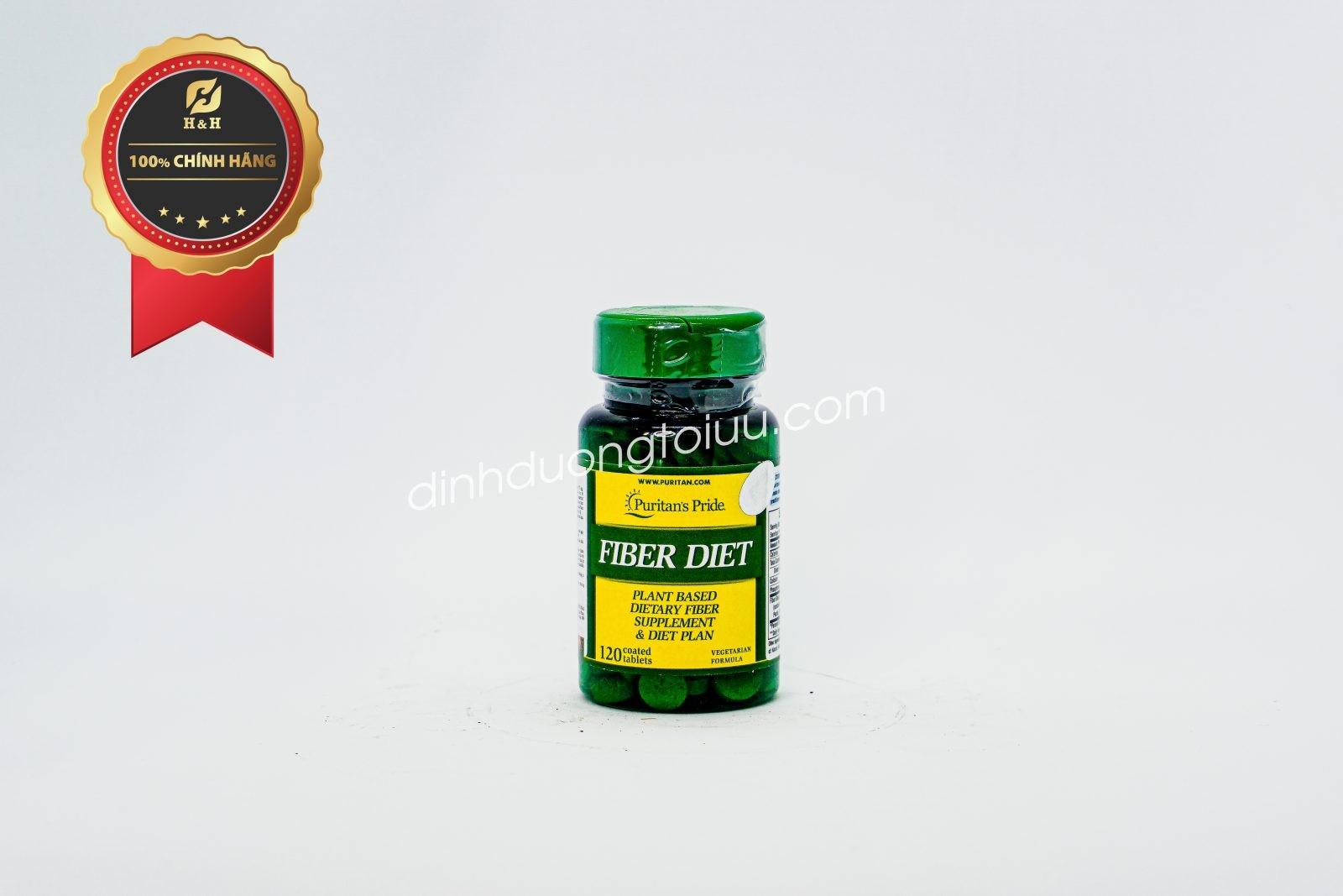 Viên uống Puritan's Pride FIBER DIET của Mỹ viên uống bổ sung chất xơ và dưỡng chất giúp giảm cân và giữ gìn vóc dáng hiệu quả