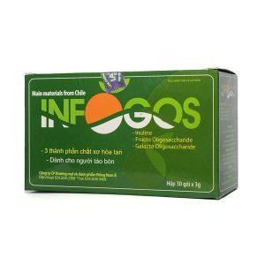 Thực phẩm chức năng INFOGOS (Hộp 30 gói) – Bổ sung CHẤT XƠ và HỖ TRỢ ĐIỀU TRỊ TÁO BÓN