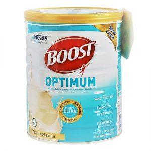 Sữa BOOST OPTIMUM, hộp 400g – Dinh dưỡng Y học tăng cường ĐỀ KHÁNG, duy trì SỨC KHỎE