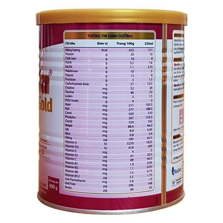 Sữa Gluvita Gold cho người tiểu đường được chuyên gia khuyên dùng