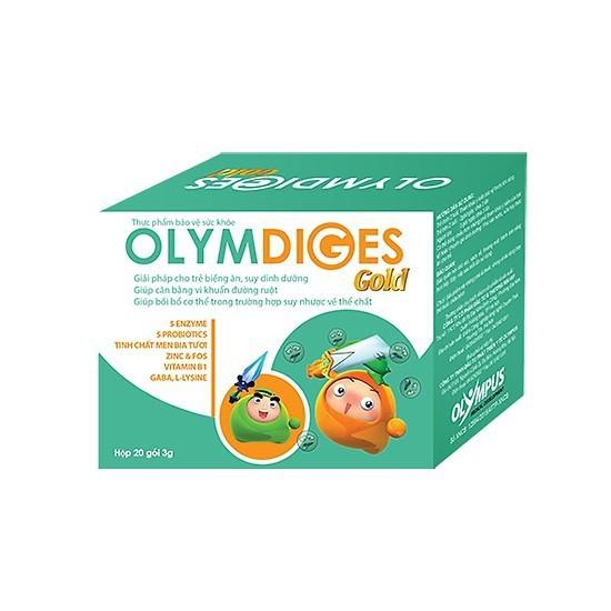 Cốm OLYMDIGES GOLD - Thực phẩm chức năng BỔ SUNG MEN TIÊU HÓA VÀ VI KHUẨN CÓ LỢI CHO ĐƯỜNG RUỘT dành cho TRẺ BIẾNG ĂN, TRẺ SUY DINH DƯỠNG