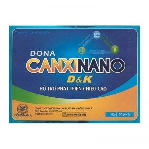 Thực phẩm chức năng CANXINANO D&K 3gx30 gói – Hỗ trợ TĂNG TRƯỞNG CHIỀU CAO, giúp XƯƠNG RĂNG CHẮC KHỎE