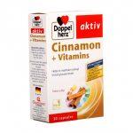 Doppelherz Aktiv CINNAMON + VITAMINS 30 viên – Thực phẩm chức năng giúp hỗ trợ KIỂM SOÁT ĐƯỜNG HUYẾT từ QUẾ