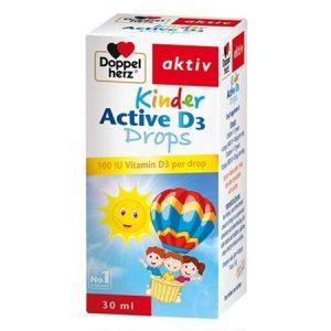 Doppelherz Kinder Active D3 Drops 30ml – Thực phẩm bổ sung VITAMIN D3, giúp xương CHẮC KHỎE