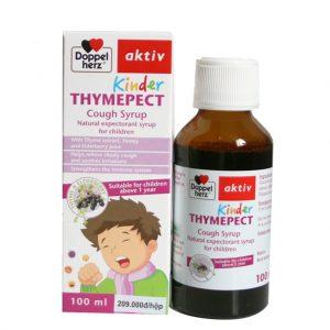 Thực phẩm chức năng Doppelherz Aktiv KINDER THYMEPECT (Hộp 100ml) – Giúp GIẢM HO, LONG ĐỜM, tăng cường MIỄN DỊCH đường hô hấp