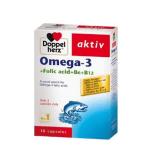 Viên uống Doppelherz Aktiv OMEGA-3 + FOLIC ACID + B6 +B12 (hộp 30 viên) – Thực phẩm chức năng giúp TĂNG CƯỜNG SỨC KHỎE và TỐT CHO TRÍ NÃO