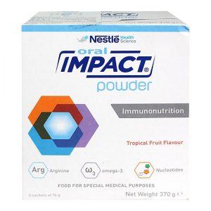 Sữa dinh dưỡng Y học ORAL IMPACT POWDER dạng bột (Hộp 370 gram của NESTLE) – Dinh dưỡng tối ưu CHO BỆNH NHÂN UNG THƯ VÀ SAU PHẪU THUẬT