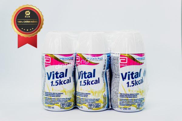 Sữa VITAL 1.5 kcal từ Abott Hoa Kỳ (200ml) hương Vanilla - Dinh dưỡng tối ưu dành cho NGƯỜI SUY DINH DƯỠNG, bệnh nhân KÉM HẤP THU