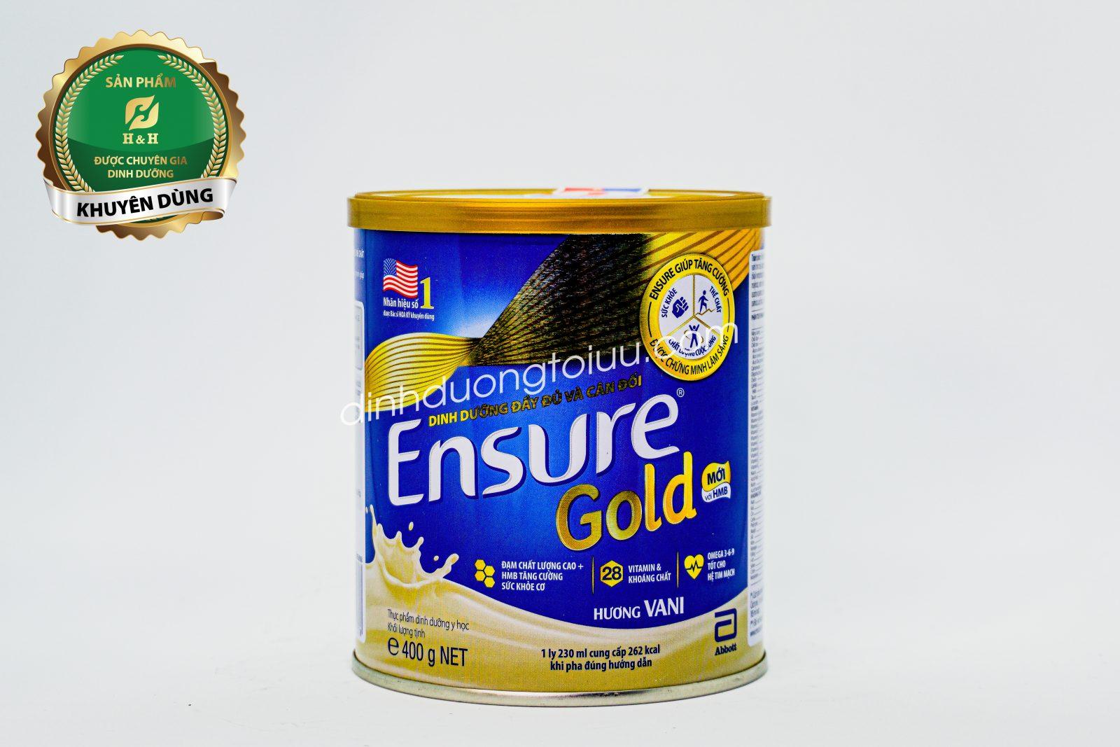 Sữa Ensure Gold Abbott Hoa Kỳ - Dinh dưỡng đầy đủ và cân đối cho người cao tuổi