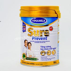 Sữa SURE PREVENT hộp 400 gram của VINAMILK – Dinh dưỡng tối ưu cho sức khỏe NGƯỜI CAO TUỔI