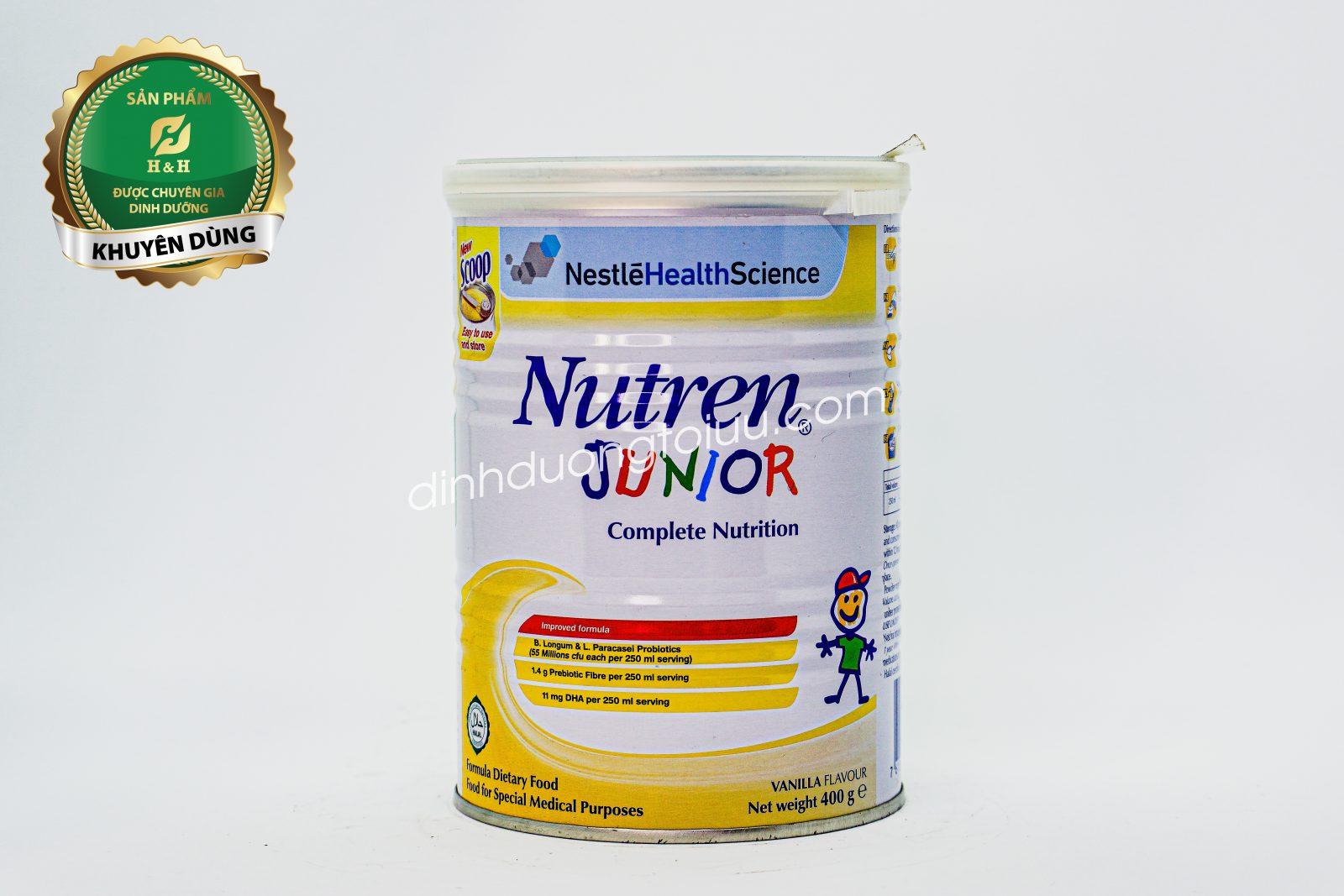 Sữa Nutren Junior Nestlé Thụy Sĩ 400g dành cho trẻ từ 1-10 tuổi