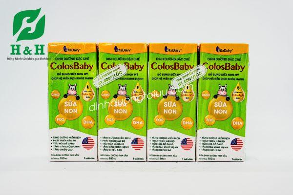 Sữa non ColosBaby pha sẵn của VitaDairy- Tăng cường miễn dịch, phát triển chiều cao ở trẻ