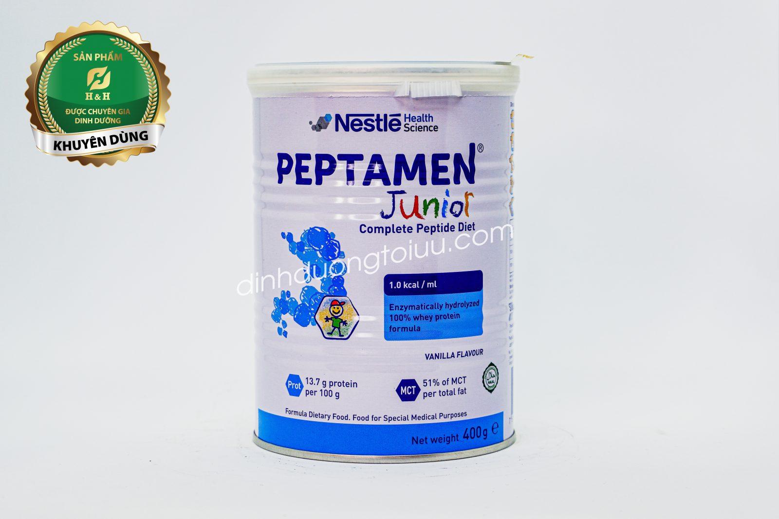 Sữa Peptamen Junior 400g - Dinh dưỡng cho trẻ kém hấp thu