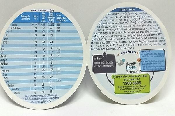 Peptamen - Sữa dành cho người kém tiêu hóa, chậm hấp thu