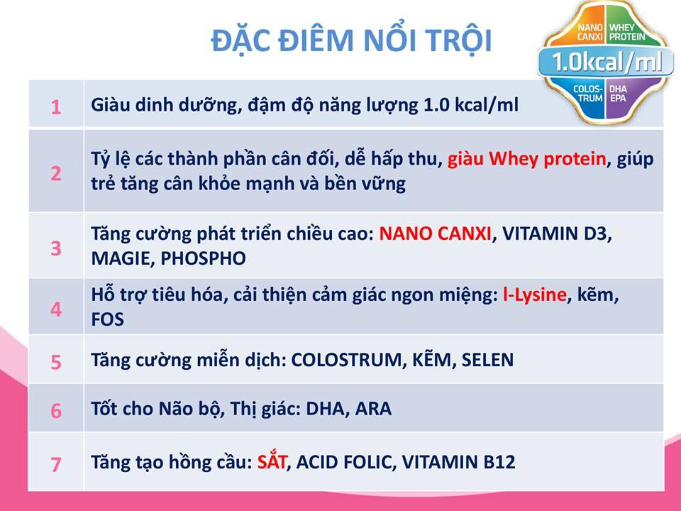 Đặc điểm nổi trội của sữa Etomil 1 cho trẻ từ 6 – 36 tháng tuổi biếng ăn, suy dinh dưỡng