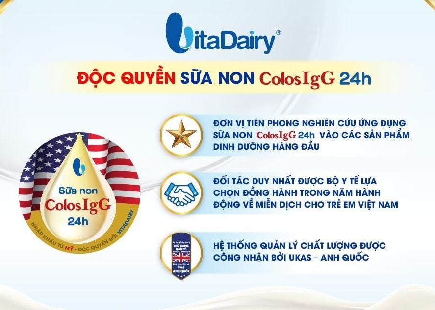 Sữa non ColosBaby với kháng thể IgG tự nhiên cho bé yêu thêm sức mạnh