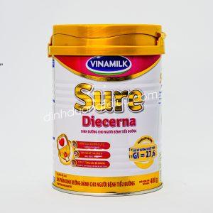 Sữa Vinamilk SURE DIECERNA (400g) hương VANILLA – Giúp kiểm soát đường huyết cho người bệnh ĐÁI THÁO ĐƯỜNG