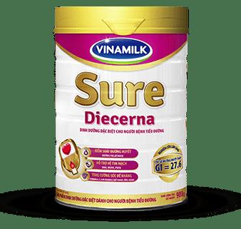 Sữa Sure Diecerna Vinamilk - Dinh dưỡng đặc chế cho người đái tháo đường và tiền đái tháo đường