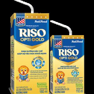 Sữa RISO OPTI GOLD mới – Dinh dưỡng đặc chế, bổ dưỡng cho HỆ TIÊU HÓA CỦA TRẺ KHỎE MẠNH