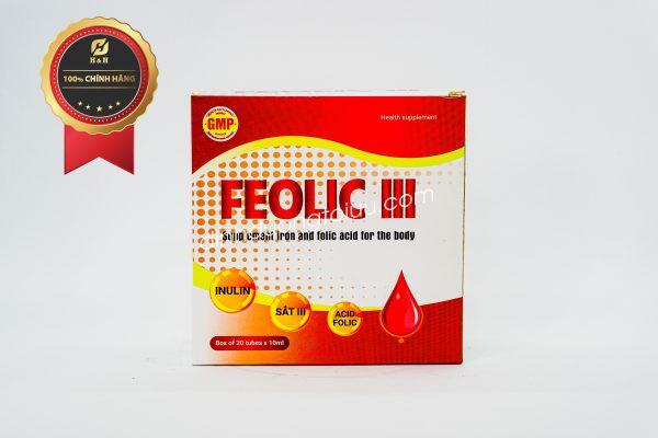 Feolic III- Bổ sung Sắt và Vitamin nhóm B cho người thiếu máu thiếu Sắt