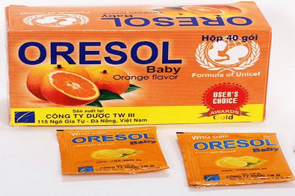 Bổ sung Oresol - Bù nước và điện giải cho trẻ trong nhiều trường hợp, nhất là khi trẻ bị tiêu chảy
