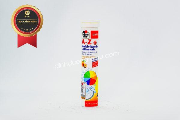 Doppelherz Aktiv A-Z Multivitamins + Minerals - Bổ sung vi chất chỉ với 1 viên sủi mỗi ngày