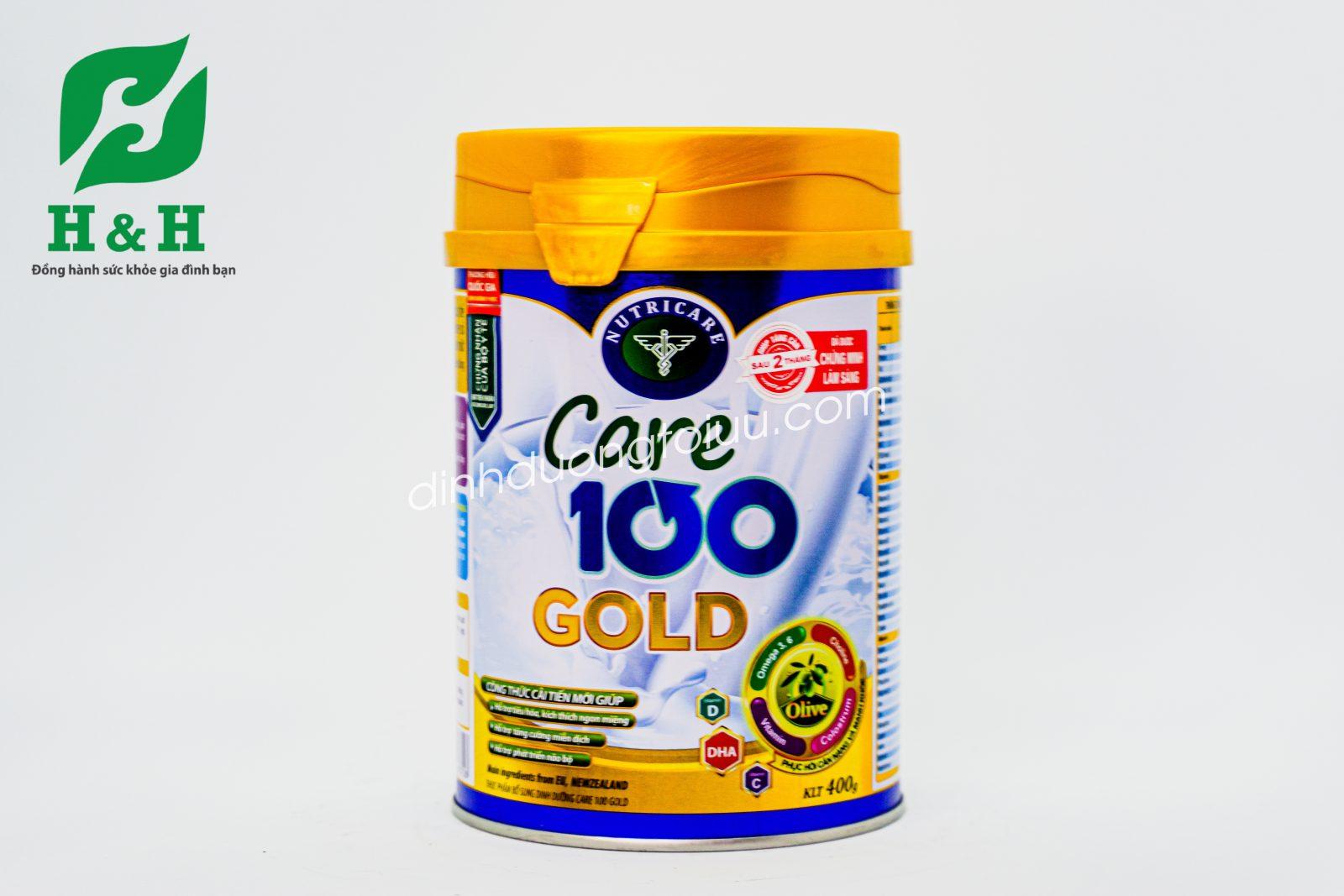 Sữa Care 100 Gold dành cho trẻ 1 -10 tuổi - Đánh bay suy dinh dưỡng, thấp còi