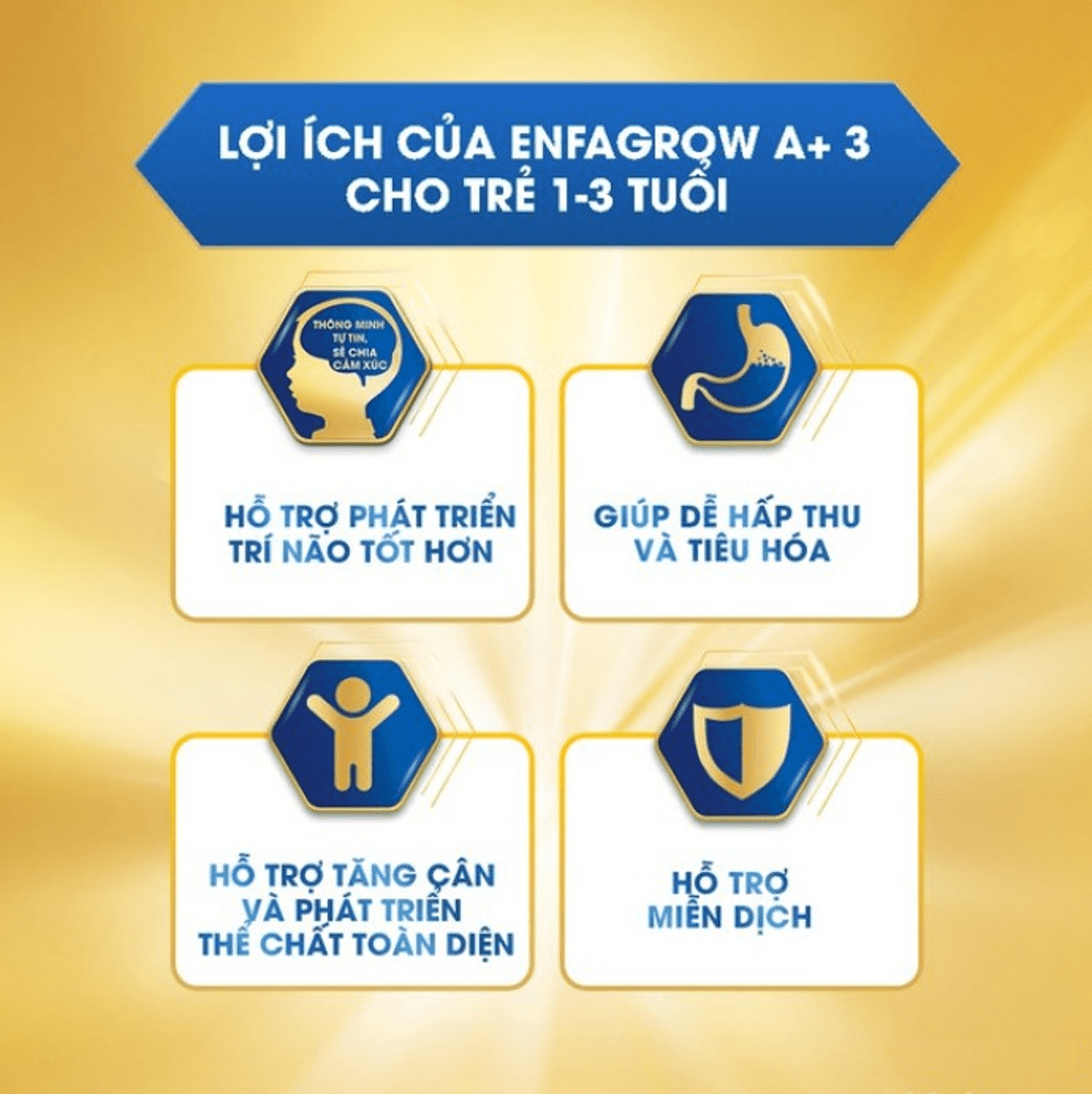 Lợi ích của Sữa Enfagrow A+ 3 cho trẻ 1 đến 3 tuổi