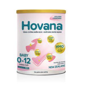 Sữa HOVANA BABY (Hộp 400gram) – Dinh dưỡng tối ưu HỖ TRỢ TIÊU HÓA cho bé từ 0 đến 12 tháng tuổi