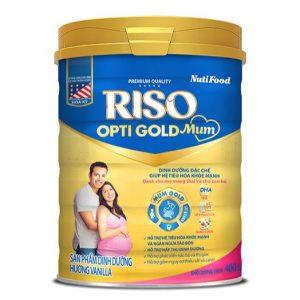 Sữa RISO OPTI GOLD MUM của NUTIFOOD – Dinh dưỡng tối ưu CHO MẸ TRONG QUÁ TRÌNH MANG THAI VÀ CHO CON BÚ