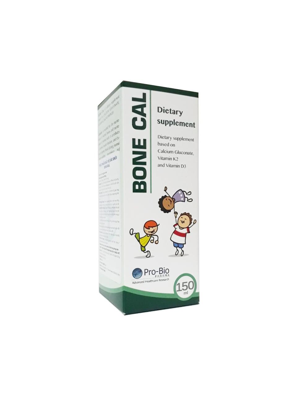 Bone Cal 100ml – Bổ sung Canxi, vitamin D3, D2, K2 hỗ trợ phát triển chiều cao cho trẻ