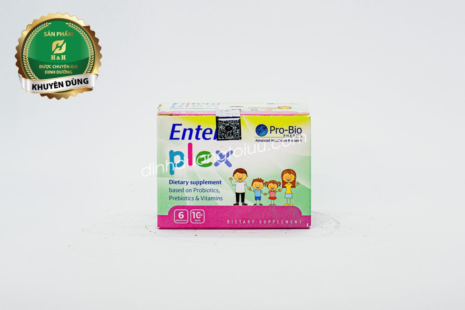 Men vi sinh Entero Plex - Bổ sung lợi khuẩn, tăng cường tiêu hóa
