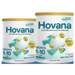 Sữa Hovana Grow IQ cho trẻ từ 1 đến 10 tuổi