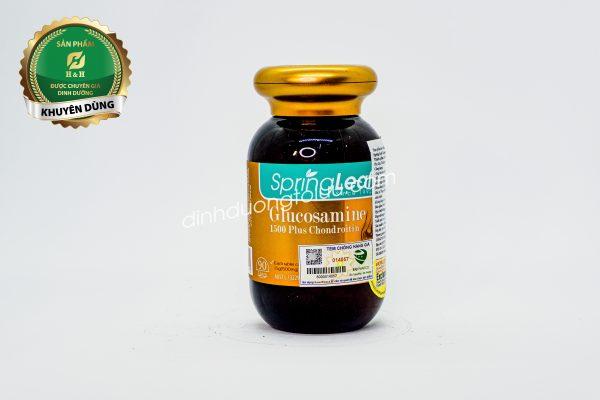 Thực phẩm bảo vệ sức khỏe Spring Leaf Glucosamine 1500 Plus Chondroitin – Viên uống hỗ trợ sức khỏe xương khớp.