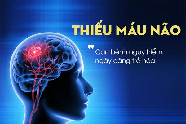 Tuần hoàn máu não lưu thông kém là tình trạng bệnh phổ biến gây nên suy giảm các chức năng của não.